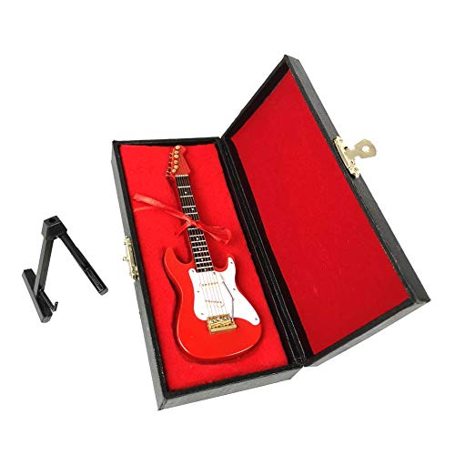 LS Miniature Red Electric Guitar Ornament, Featival Decoration and Holiday Tree Ornament (red)