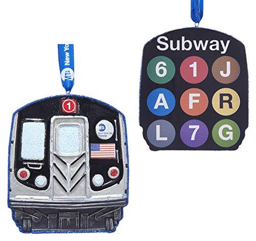 Kurt Adler Kurt S. Adler 3.63-Inch New York Subway Ornament