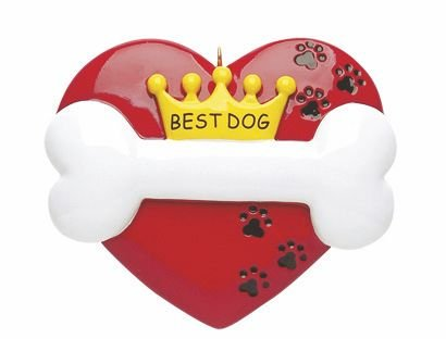 Best Dog Personalized Christmas Tree Ornament-Free Personalization and Gift Bag!