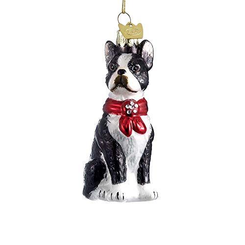 Kurt Adler 3.5-Inch Noble Gems Boston Terrier Ornament