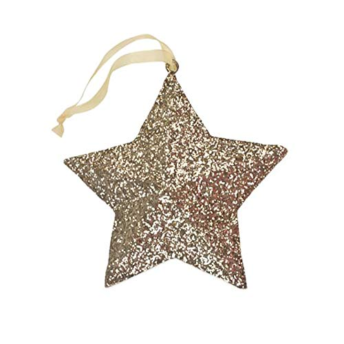 Bethany Lowe Gold Glitter Peaceful Star Christmas Tree Ornament Retro Vintage Decor