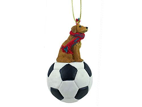Conversation Concepts Golden Retriever Soccer Ornament