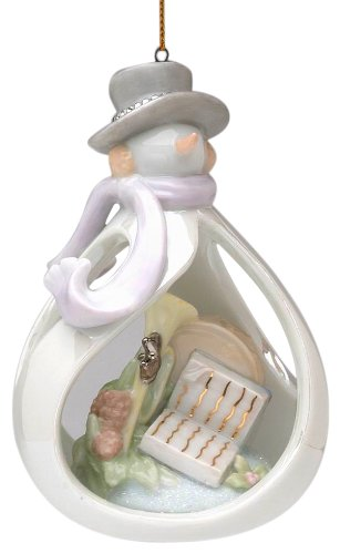 Appletree Design Joyful Snowman Ornament, 4-3/8-Inch Tall, Includes String for Hanging