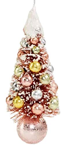 Holiday Lane Shimmer and Light Pink Christmas Tree Ornament
