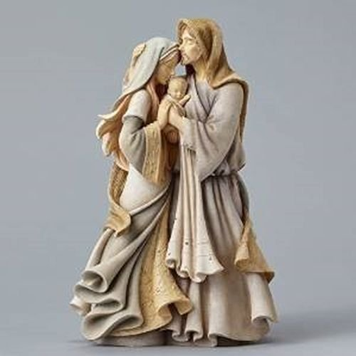Foundations Holy Family Masterpiece Stone Resin Figurine, 12″
