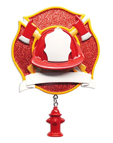 Polar X Fireman with Dangling fire Hydrant Personalized Christmas Ornament