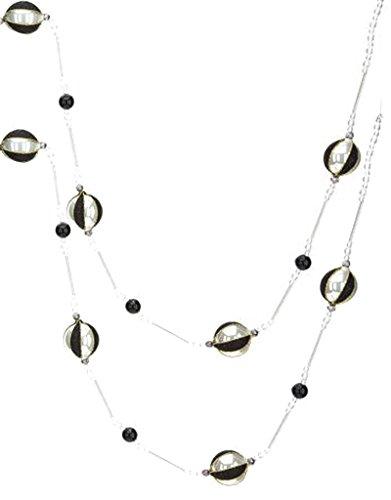 Mark Roberts Black White Glass Ball Ornaments Garland – 72 inches