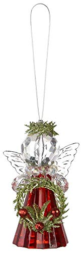 Ganz Kissing Krystals Teeny Mistletoe Red Jewel Angel Ornaments ~ Choose from Four Designs (Berry Wreath)