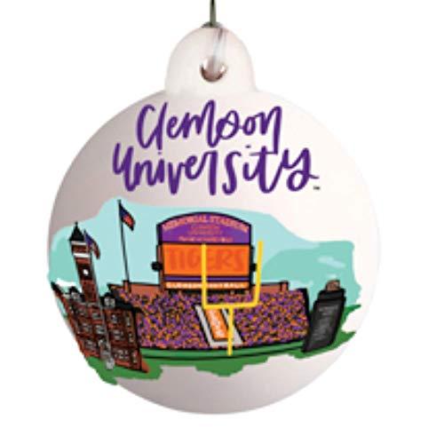Glory Haus Clemson Landmark Ball Ornament