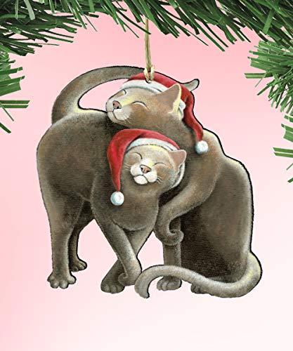 Designocracy Decorative Ornament by Laura Seeley (Star Crossed Santa Cat 8512068)