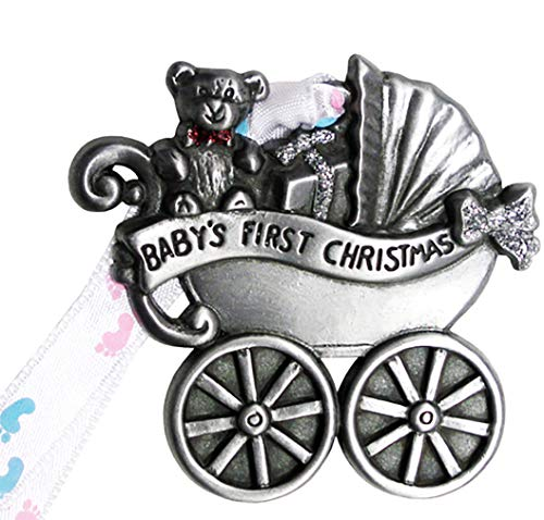 Gloria Duchin Baby Carriage Christmas Ornament, Baby's First Christmas