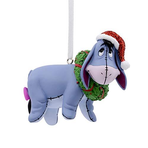 Hallmark Christmas Ornaments, Disney Winnie the Pooh Eeyore With Wreath Ornament