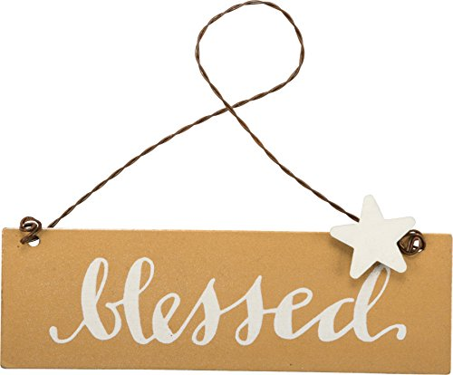 PBK Fall Decor – Small Tin Ornament Sign Blessed #33697