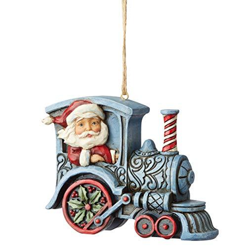 Enesco Jim Shore 6004311 Santa in Train Engine Hanging Ornament, Resin, 3.07 Inches, Mutlicolour