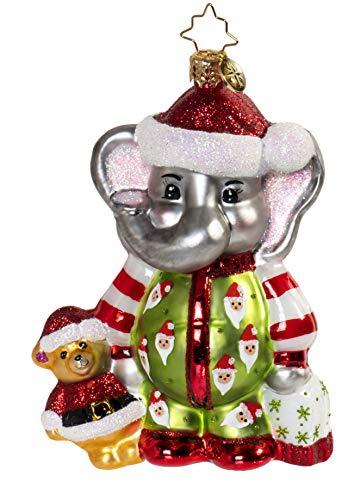 Christopher Radko Sleep Tight Baby Elephant Christmas Ornament