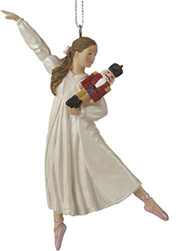 Nutcracker Ornaments: Clara from the Nutcracker Ballet Wearing Her White Gown Holding a Nutcracker for the Christmas Tree, or Window or Everyday Gift for a Ballerina Dancer or Enthusiast