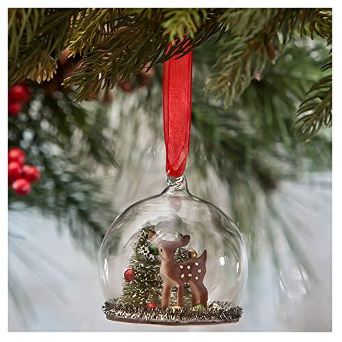 Bethany Lowe Deer Mini Glass Globe Christmas Ornament Retro Vintage Style Decor