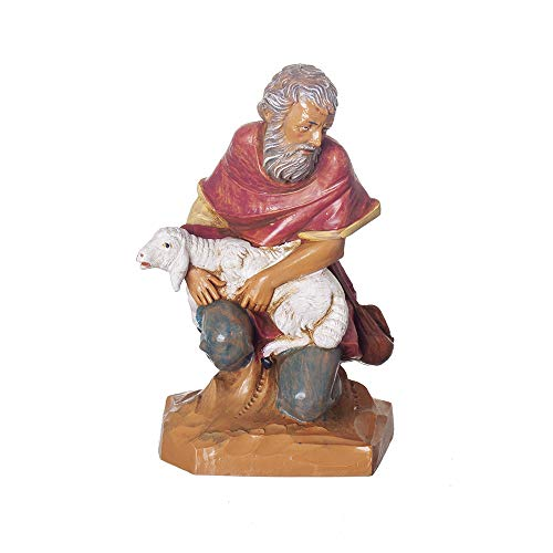 Fontanini, Nativity Figure, Jeremiah The Shepherd, 7.5″ Scale, Collection, Handmade in Italy, Designed and Manufactured in Tuscany, Polymer, Hand Painted, Italian, Detailed