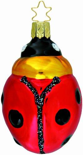 Inge-glas Lucky Lady Bug 1-472-01 German Glass Christmas Ornament Gift Box