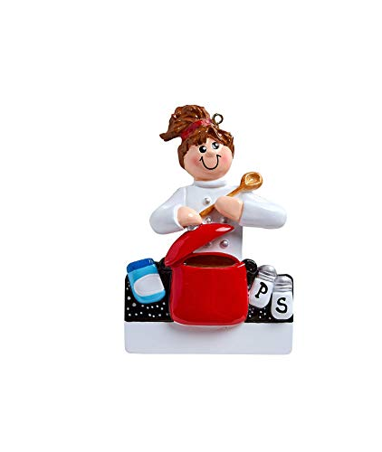 Rudolph & Me Inc Loves to Cook Personalized Christmas Ornament