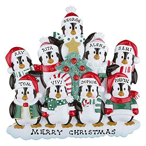 Polar X Personalized Christmas Ornament Penguins Family (Family 9)