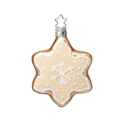 Inge-Glas Cookie Frosted Tasty Star 10100S018 German Glass Christmas Ornament