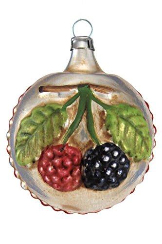 Marolin Blackberries and Bloom MA2011038 German Glass Ornament w/Gift Box