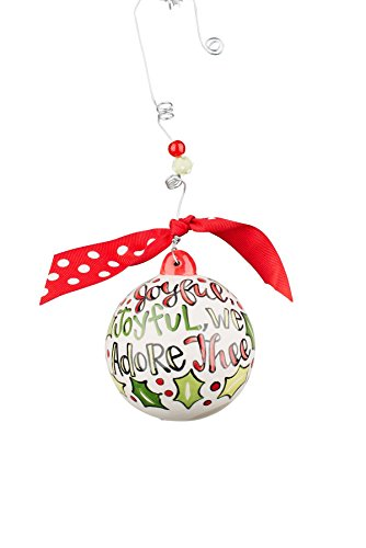 Glory Haus Joyful We Adore Thee Ball Ornament, 4″ X 4″, Multicolor