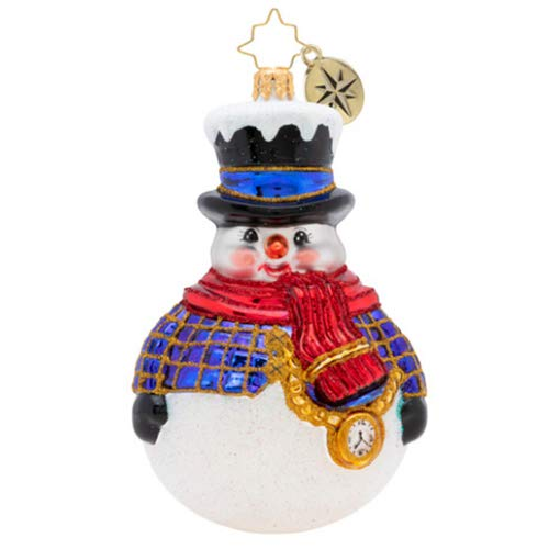 Christopher Radko Hand-Crafted European Glass Christmas Ornaments, Jolly All A-Round Snowman!