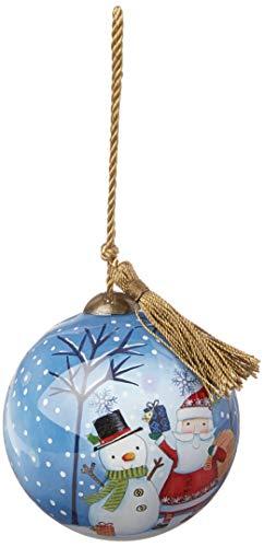 Ne'Qwa Petite Round Santa & Snowman Presents Ornament, Multi