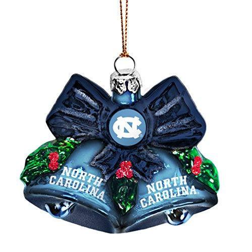NCAA North Carolina Tar Heels Glitter Bells Ornament