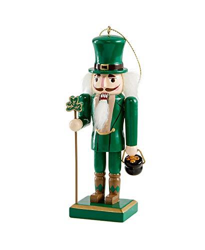 Holiday Lane Wooden Green Irish Nutcracker Ornament
