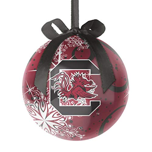 Topperscot NCAA South Carolina Fighting Gamecocks Decoupage Ball Holiday Ornament