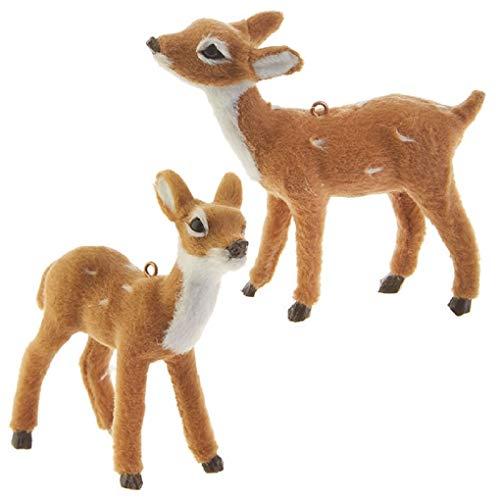 Raz 3.5-inch Deer Ornaments 2 Assorted