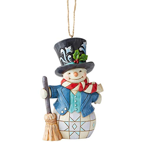 Enesco Jim Shore Heartwood Creek Snowman W/Top Hat Hanging Ornament