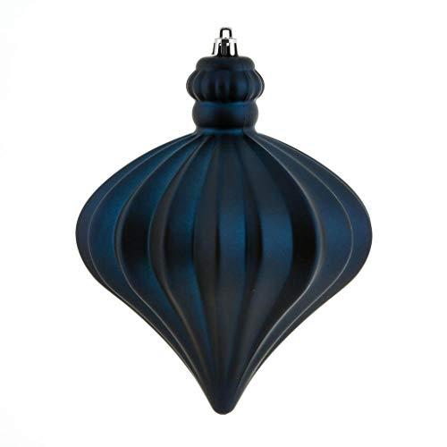 Vickerman 569238-6″ Midnight Blue Matte Onion Drop Christmas Tree Ornament (4 pack) (N175831D)