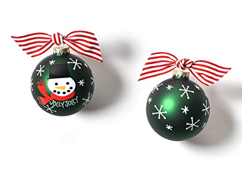 Coton Colors 100 MM Jolly Snowman Glass Ornament