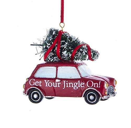 Kurt Adler Cool Yule Get Your Jingle On! Car Ornament Red
