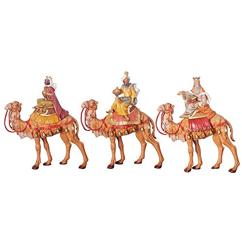 Fontanini, Nativity Figure, 3-pc Three Kings Set, 7.5″ Scale, Collection, Handmade in Italy, Designed and Manufactured in Tuscany, Polymer, Hand Painted, Italian, Detailed