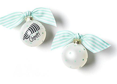 Coton Colors Cheerleading Glass Ornament