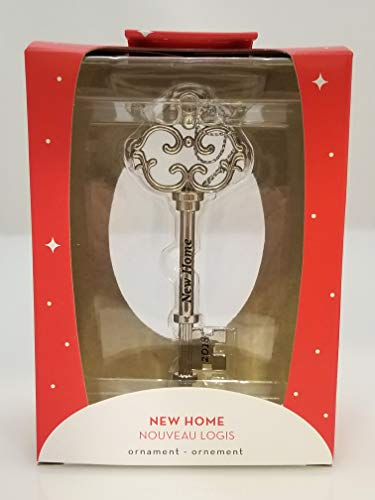 American Greetings 6053162 2018 New Home Key Christmas Tree Ornament, One Size, Silver