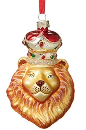 Holiday Lane Majesty Lion Head with Crown Ornament