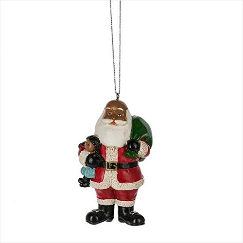 Midwest-CBK Black Santa Claus Holiday Ornament – Gift Boxed