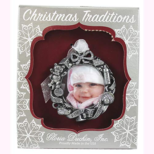 Connie N Randy Gloria Duchin, Inc Baby's First Christmas Frame Ornament