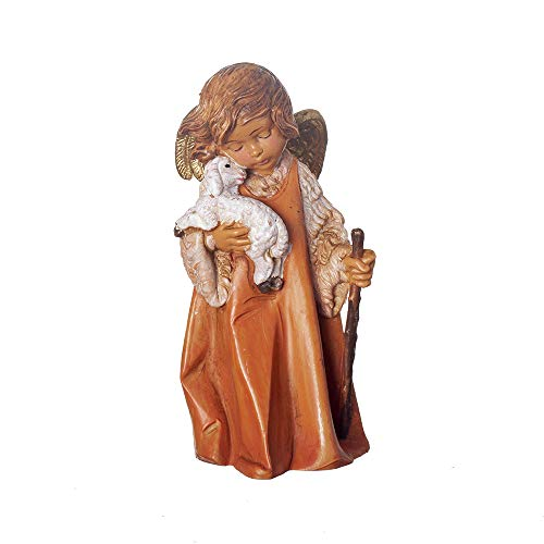 Fontanini, Nativity Figure, Little Shepherd Angel, 7.5″ Scale, Collection, Handmade in Italy, Designed and Manufactured in Tuscany, Polymer, Hand Painted, Italian, Detailed
