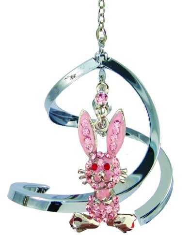 Crystal Delight by Mascot Propelling Spiral Ornaments – Cat or Rabbit (Rabbit – Pink)