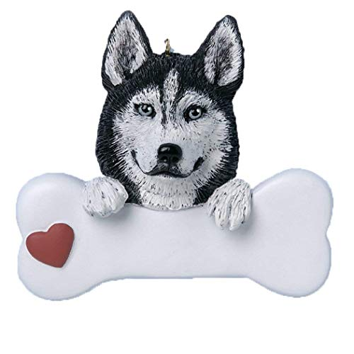Rudolph and Me Siberian Husky Personalized Christmas Ornament
