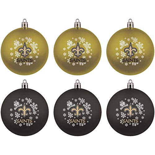 Topperscot NFL New Orleans Saints Home & Away Shatter Proof Ball Ornament Gift Set of 6
