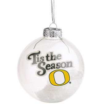 Oregon Ducks 'Tis the Season Glass Ball Ornament