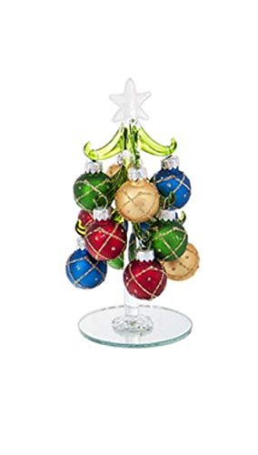 Ganz Glass Christmas Tree with Ornaments Small Home Decor